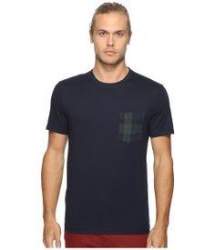 Original Penguin Short Sleeve Black Watch Pocket Tee (Dark Sapphire) Men's T Shirt