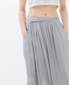 Image 6 of LONG FLOWING SKIRT from Zara