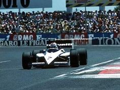 Nelson Piquet drove his Brabham-BMW to win the 1985 French Grand Prix, the last race at the full Paul Ricard circuit