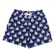 Sail Away Swim Trunks - Option to Embroider