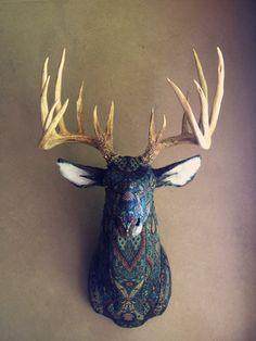 Custom Upholstered Faux Taxidermy Deer (DO NOT purchase this listing - message me for custom listing) - Lifesize Deer Head - Made by Artist