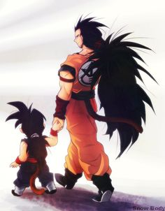 Raditz & Gohan -- I'm still so sad that Raditz never came back as one of the good guys.