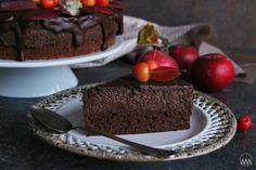 Čokoládovo - jablečný moučník