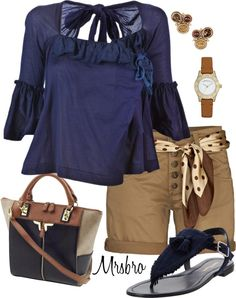 """""""Blue ruffle top for Summer"""" by mrsbro on Polyvore"""