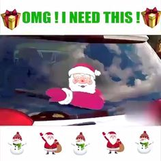 Limited Time Sale - Christmas Halloween Car Rear Window decoration decal sticker Wiper tags make your car beautiful.Here, we have come up with these adorable Santa Claus, Snowman, and Elf design. Diy Felt Christmas Tree, Christmas Decals, Easy Christmas Decorations, Christmas Village Display, Funny Christmas Cards, Christmas Villages, Christmas Snowman, Simple Christmas, Holiday Crafts