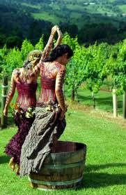 stomping grapes in wine country- Jim would be ion heaven to witness this!