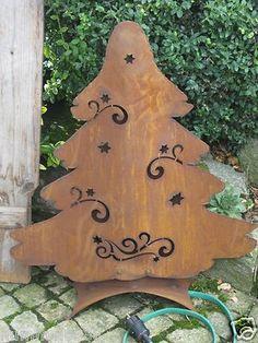 details zu edelrost tannenbaum christbaum set weihnachten. Black Bedroom Furniture Sets. Home Design Ideas
