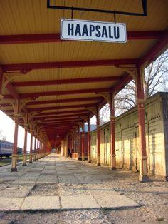 Haapsalu, Estonia, train station today  http://www.globe-hoppers.com/ilon-wikland.html