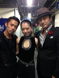 With Akiko Suzuki and Kenji Miyamoto