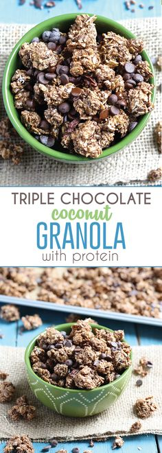 Triple Chocolate Coconut Granola is loaded with clusters, plus added protein for…