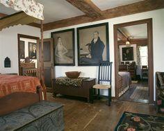 Eye For Design: Decorating In The Primitive Colonial Style Primitive Bedroom, Primitive Homes, Country Primitive, American Bedroom, American Decor, Prim Decor, Country Decor, Primitive Decor, Country Homes