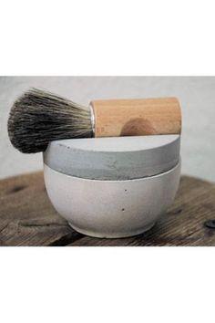 Shaving cup - concrete