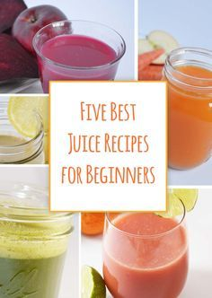 These are the top juices for people just starting to juice. They are mild and sweet and slowly introduce green juices. Best juice recipes for beginners!