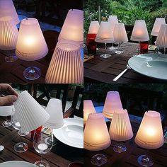 a wineglass-lantern