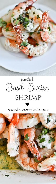 roasted basil butter shrimp I http://howsweeteats.com