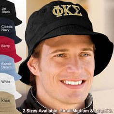 Fraternity Embroidered Bucket Hat #Greek #Fraternity #Accessories #Clothing #Hats