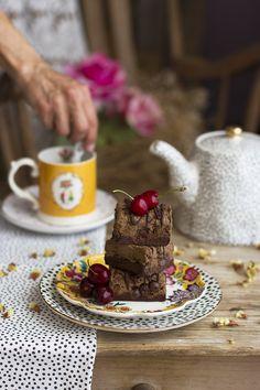 Brookies brownie + cookies saludables recetas healthy Brownies, Brownie Cookies, Vegan Cake, Vegan Treats, Healthy Sweets, Sin Gluten, A Food, French Toast, Chocolate