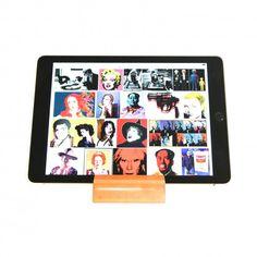 iPad standaard, keuze uit 16 verschillende houtsoorten