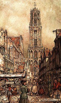 Kerst in Utrecht | Anton Pieck | Buurkerkhof