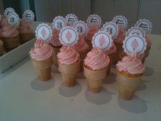 Ice Cream Cone Cupcakes - Ice Cream Parlour Party