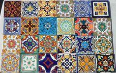 C#122 mexicain carrelage céramique fait à la main espagnol influence Talavera Art Mosaïque
