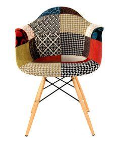 Loving this Patchwork Midcentury Armchair on #zulily! #zulilyfinds