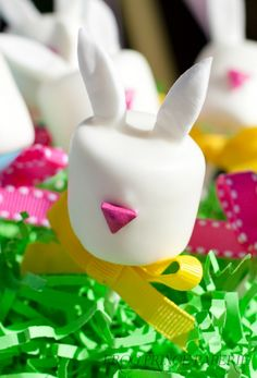 Marshmallow easter bunny pop