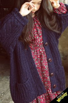 bo-bo Warm Knit Cardigan at Color Me WHIMSY - Cool kid's fashion made in Korea