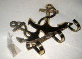 #6: maritimer Wandhaken- Schlüsselhaken- aus massiv Messing incl. Schrauben - http://www.xn--brombel-profi-lmb0g.com/bueromoebel/6-maritimer-wandhaken-schluesselhaken-aus-massiv-messing-incl-schrauben