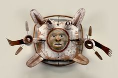 Yup'ik mask, Alaska, before 1898More Pins Like This At FOSTERGINGER @ Pinterest♀️