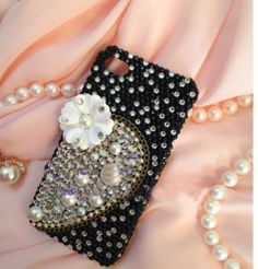bling iphone 5 case pearl phone 5s case for by Luxuryphonecase88, $19.99