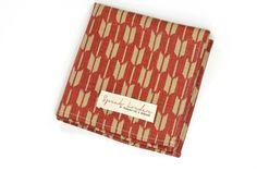 Pañuelos - pañuelo de bolsillo rojo flechas - hecho a mano por SpeakLouder en DaWanda