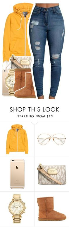 You call her Stephanie, I call headphanieeee by uniquee-beauty ❤ liked on Polyvore featuring HM, Michael Kors, MICHAEL Michael Kors and UGG Australia