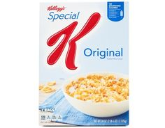 Buy Here Kick-start your day with Kellogg's Special K Original Cereal, lightly toasted rice flakes that help you stay on track. Special K Cereal, Rice Flakes, Crunch Cereal, Milk Ingredients, Wheat Gluten, Red Raspberry, Vitamins And Minerals, Serving Size, Butler Pantry