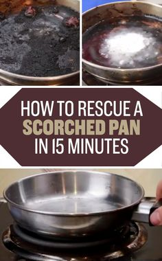 Rescue a pan that you accidentally scorched by boiling it with cream of tartar…