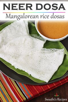 Neer dosa are mangalorean rice dosas made without fermentation. These super thin crepes are easy to make and needs just rice and salt. They are eaten with a chutney or curry. Tasty Vegetarian Recipes, Beef Recipes, Cooking Recipes, Healthy Recipes, Goan Recipes, Indian Snacks, Indian Food Recipes, Veg Breakfast Recipes Indian, Rice Flour Recipes