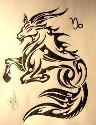 Brilliant Tribal Capricorn Tattoo Stencil With Red Eyes Capricorn Sign Tattoo, Capricorn Art, Zodiac Sign Tattoos, Zodiac Signs, Tribal Arm Tattoos, Body Art Tattoos, Sleeve Tattoos, Tatoos, Future Tattoos