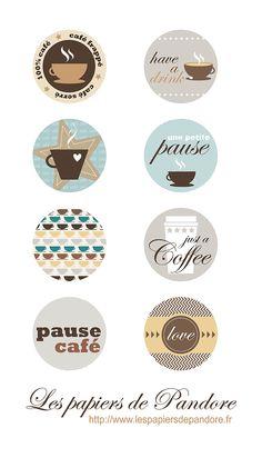 FREE printable tags Coffee