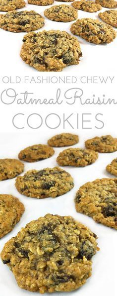 Easy Chewy Oatmeal Raisin Cookies: great for lunch boxes and picnics for a sweet treat. Studded with plump raisins. Delicious and addictive, like grandma's.