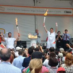 .@BillyBridges18 @SamiJoSmall lit the cauldron today in the #TO2015 torch relay! #PARATOUGH