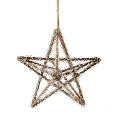 "RAZ Imports - 7"" Iced Star Ornament"