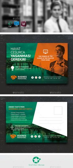 Buy Corporate Postcard Templates by on GraphicRiver. Corporate Postcard Templates Fully layered INDD Fully layered PSD 300 Dpi, CMYK IDML format open Indesign or late. Business Postcards, Cool Business Cards, Auto Business, Business Flyer, Postcard Template, Postcard Design, Corporate Invitation, Invitation Design, Mail Jeevas