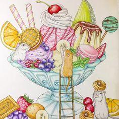 いいね!135件、コメント14件 ― luna-soleil00さん(@lunasoleil00)のInstagramアカウント: 「✲゚幸せのメヌエット✲゚ アイスのパフェ塗り終わりました ベリー系の味にしてみました♪ #幸せのメヌエット #大人の塗り絵 #塗り絵#ぬりえ#アイス#ハムスター#江種鹿乃子…」