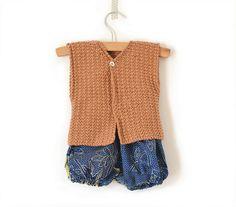 Gilet Emile, tricot bébé, by Vidibio #knit #pattern