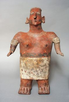 Standing Female FigureMexico, Nayarit, Nayarit, 200 B.C. - A.D. 500 SculptureCeramic with slip and paint LACMA