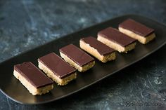 Chocolate Peanut Butter Bars Recipe on SimplyRecipes.com