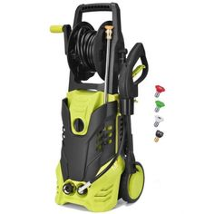 Takeasy Electric Power Pressure Washer 2030 PSI High Pressure Washer Cleaner Machine w/Hose Reel,Spray Gun,Nozzles and Built in Soap/Foam Dispenser Push Lawn Mower, Washer Cleaner, Steel Deck, Washer Machine, Lawn Equipment, Hose Reel, Clean Machine, Electric Power