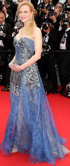 Nicole Kidman at the Cannes Opening Ceremony Grace of Monaco premiere.