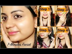 In this video, I have shared a simple facial to help you get a clear, glowy, whiter and spotless skin in just 7 minutes. This homemade facial includes 4 simp. Facial Treatment, Skin Treatments, Facial Therapy, Home Remedies For Acne, Skin Brightening, Good Skin, 7 Minutes, Skin Care, Face Care