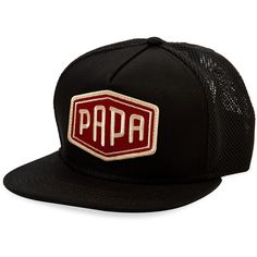 8f554525219 Sherpapa Men s Papa Trucker Cap - Black (32 CAD) ❤ liked on Polyvore  featuring men s fashion